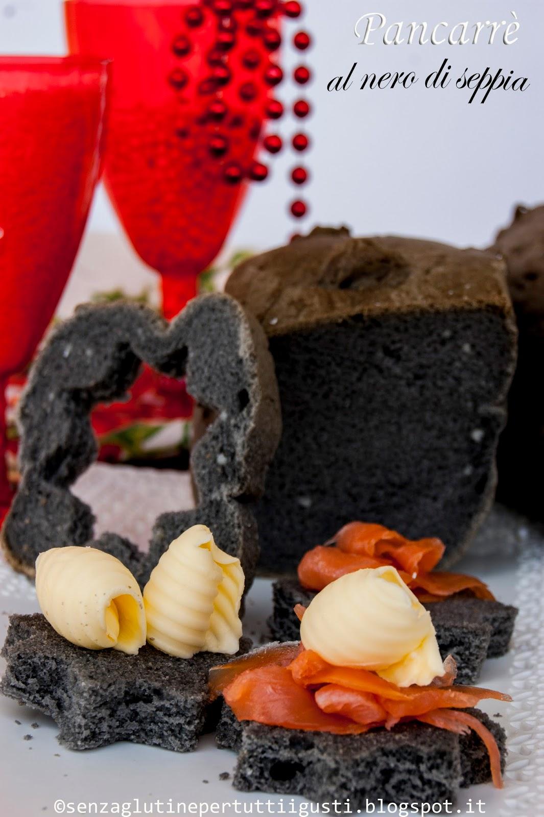 pancarrè al nero di seppia senza glutine