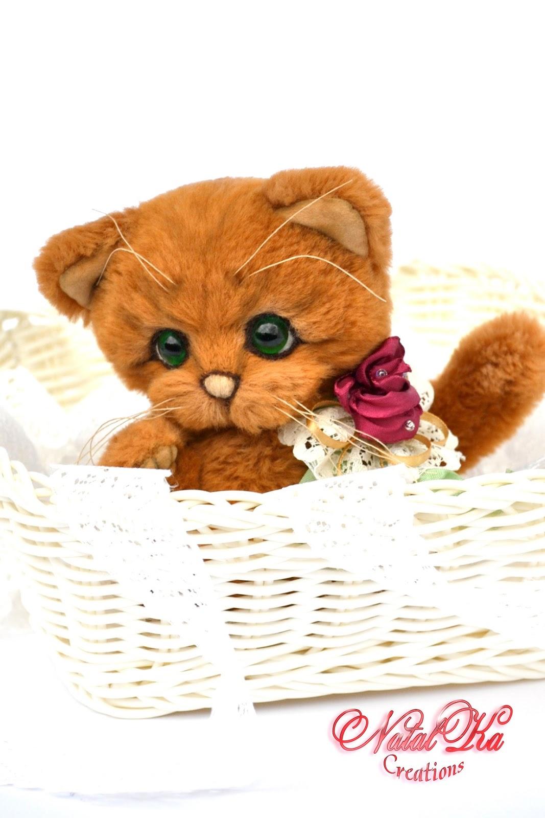 Artist teddy cat, artist teddy, teddies, ooak, handmade byNatalKa Creations. Авторский кот тедди, котенок, кошка, ручная работа в единственном экземпляре от NatalKa Creations