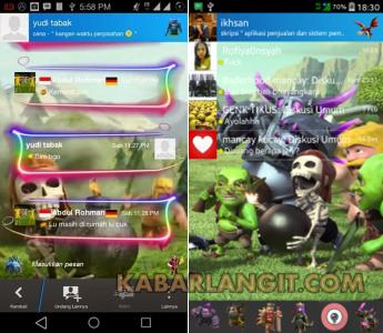 BBM MOD Tema Clash of Clans Apk Gratis