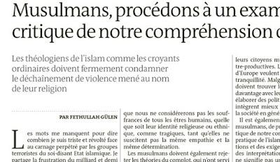 Fethullah Gulen's op-ed in Le Monde
