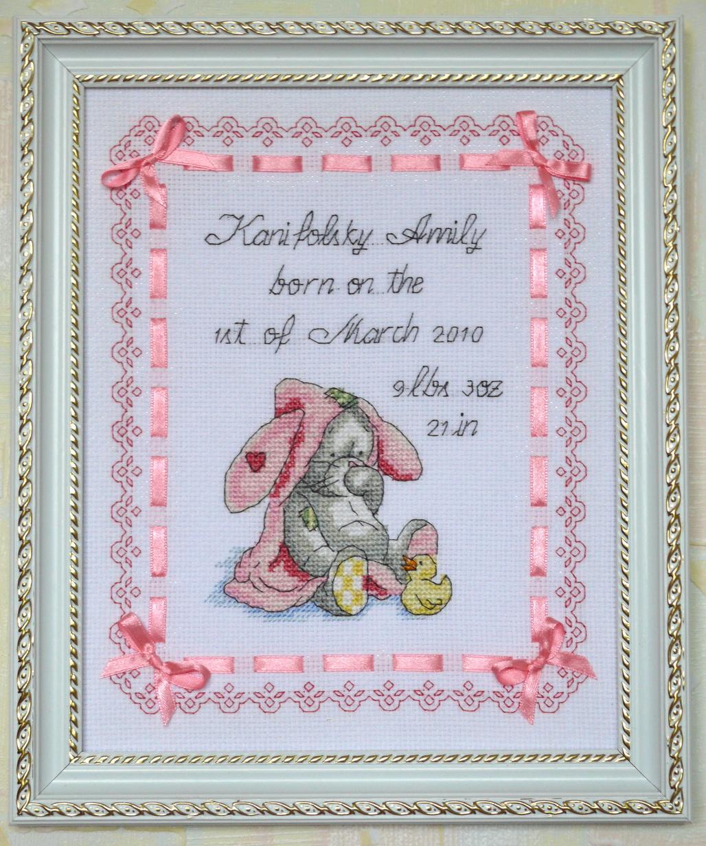 Вышивка для новорожденного фото 34