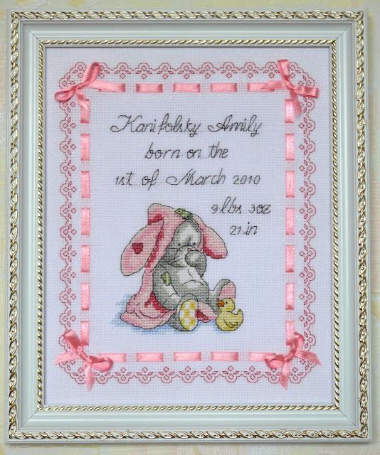 Вышивка для новорожденного имя