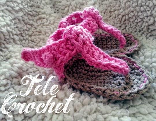 sandalia crochet