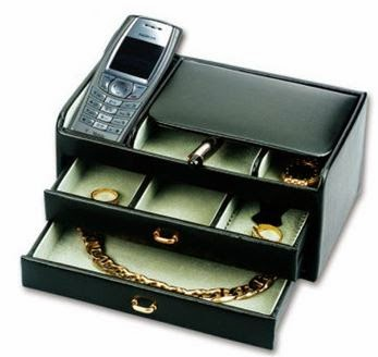 two drawer valet case for men