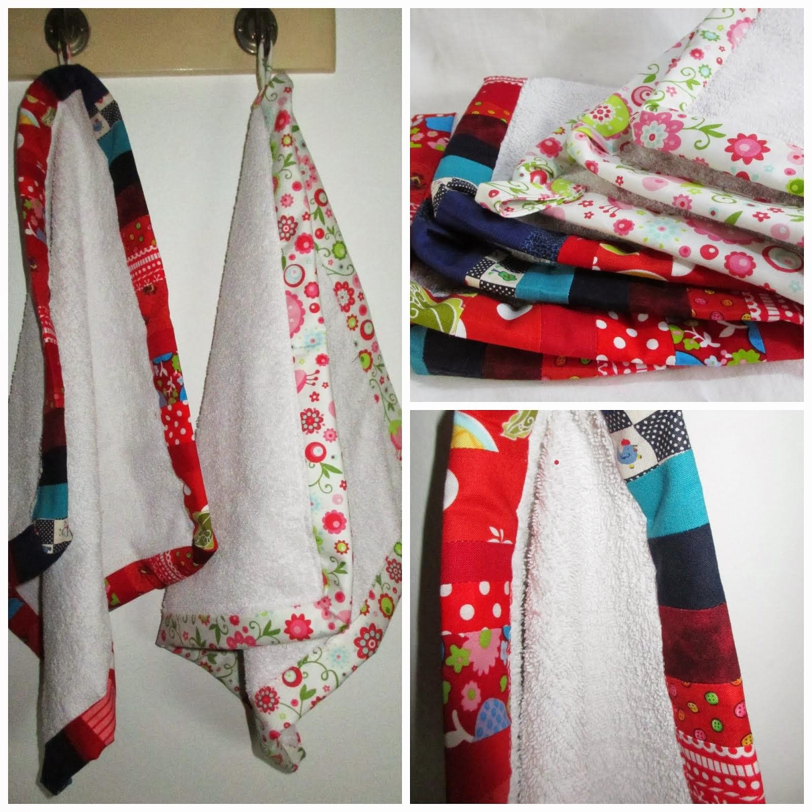Handtücher werden lebendig bunt