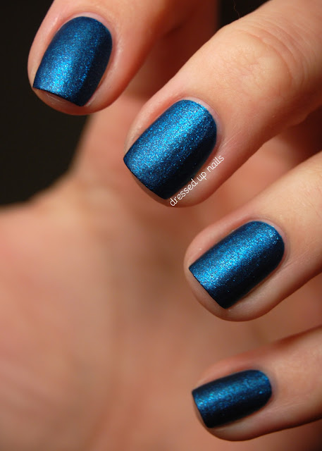 Pure Ice Blue Midnight matte suede polish