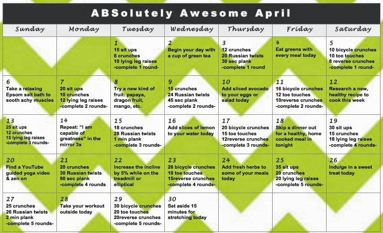 Calendar Challenge ABSolutely Awesome April 2014 Lauren Gleisberg
