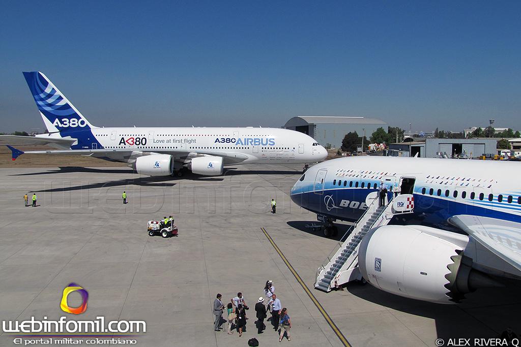 Airbus A-380 FIDAE+2012+B787+A380