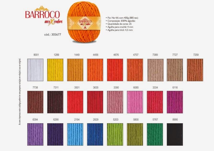 Tabela de cores Maxcolor