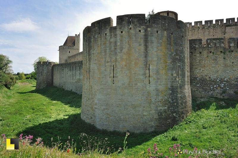 Douves extérieures de Carcassonne au delà du cliché