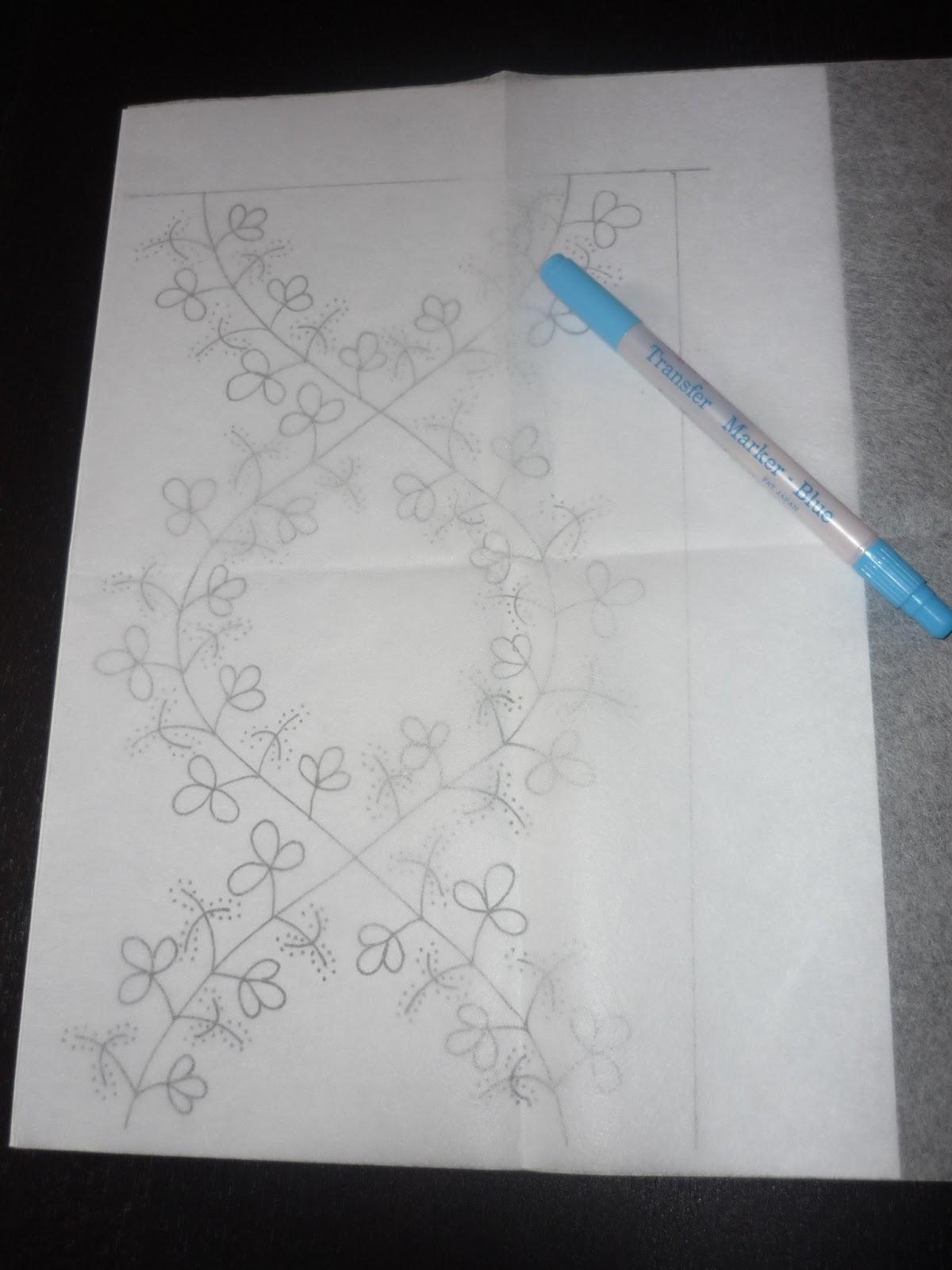 Coser y Coser Patchwork: Como utilizar papel para transferir dibujos.