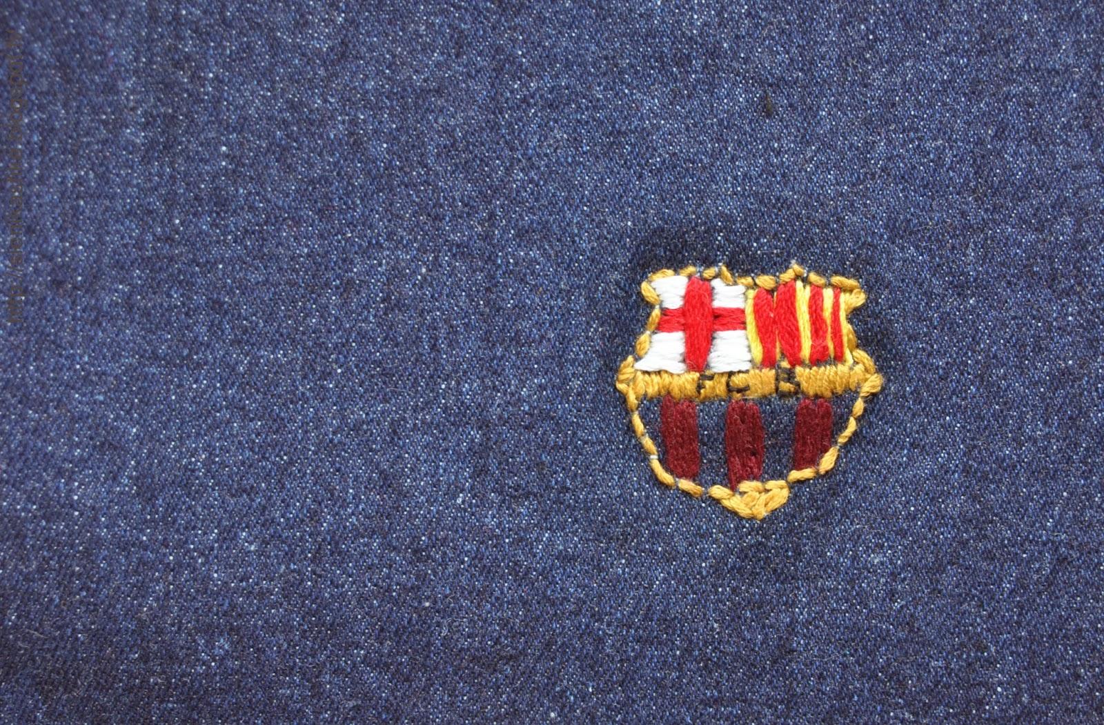 Вышивка эмблемы барселоны