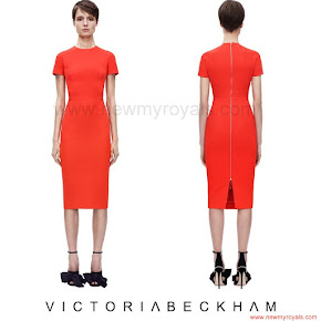 Sophie Countess of Wessex Style Victoria Beckham Fitted Dress