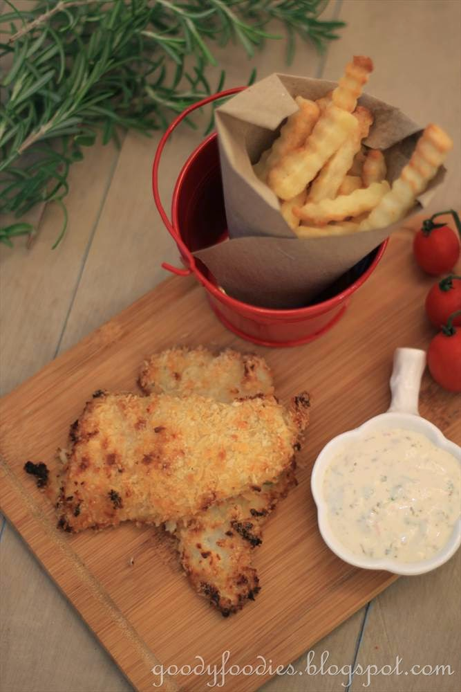 Goodyfoodies recipe oven baked fish and chips easy for Baked fish and chips