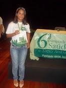 Nossa aluna premiada na 6ª Olimpíada da FIOCRUZ