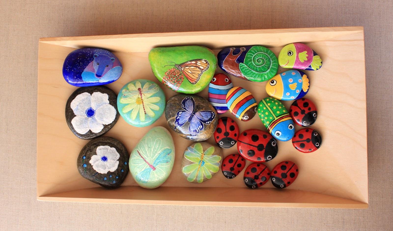 Como Pintar Piedras Imagui