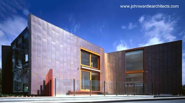 Residencia contemporánea cubierta de cobre en Australia