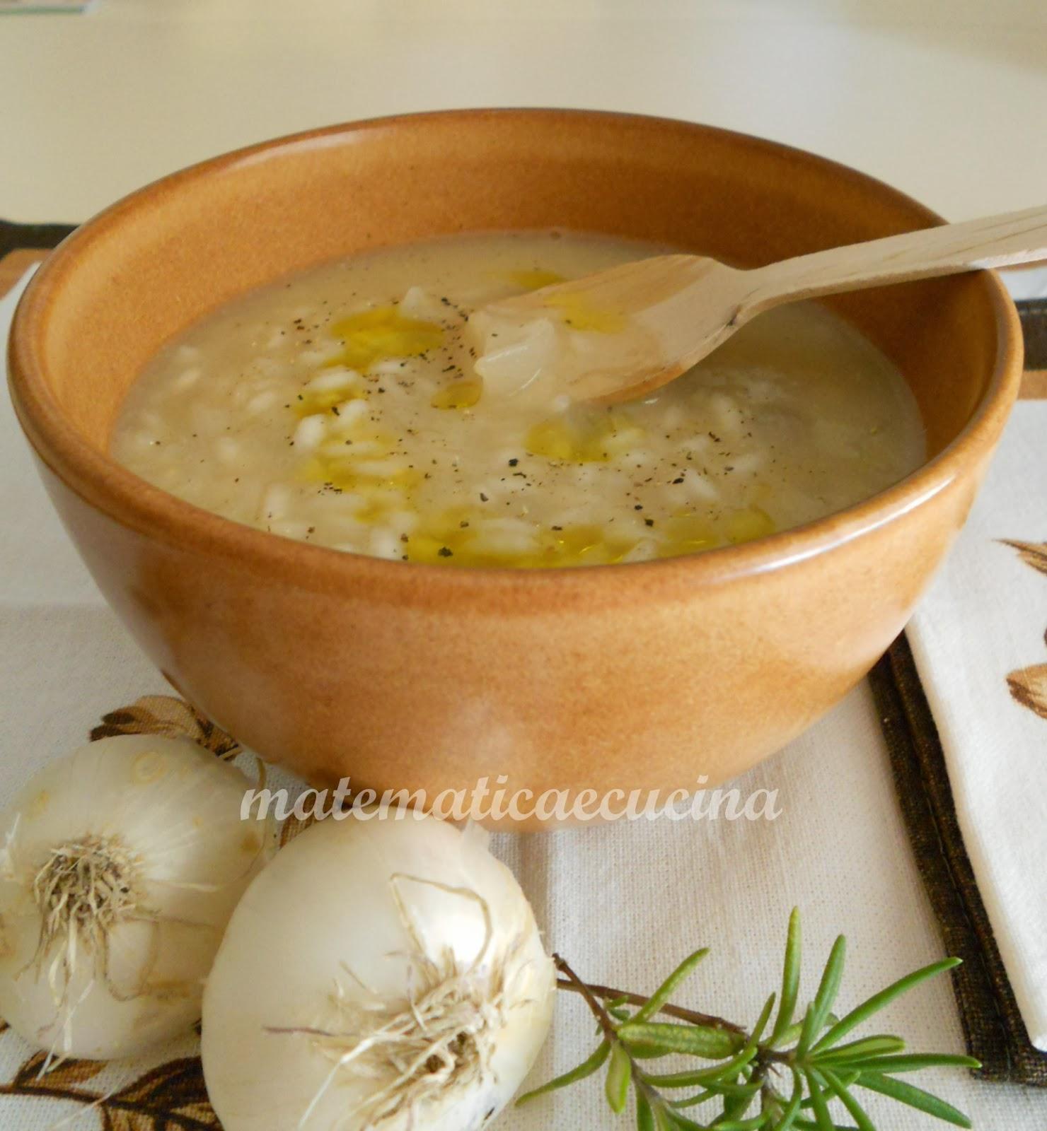 minestra di riso con cipolle