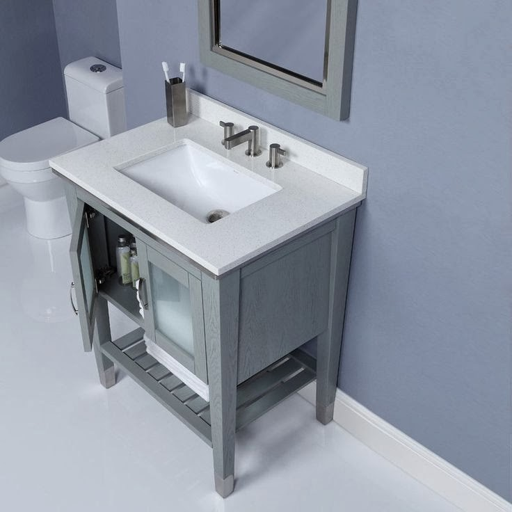 Modern bathroom vanities provide relax comfort and for Double vanity for small bathroom