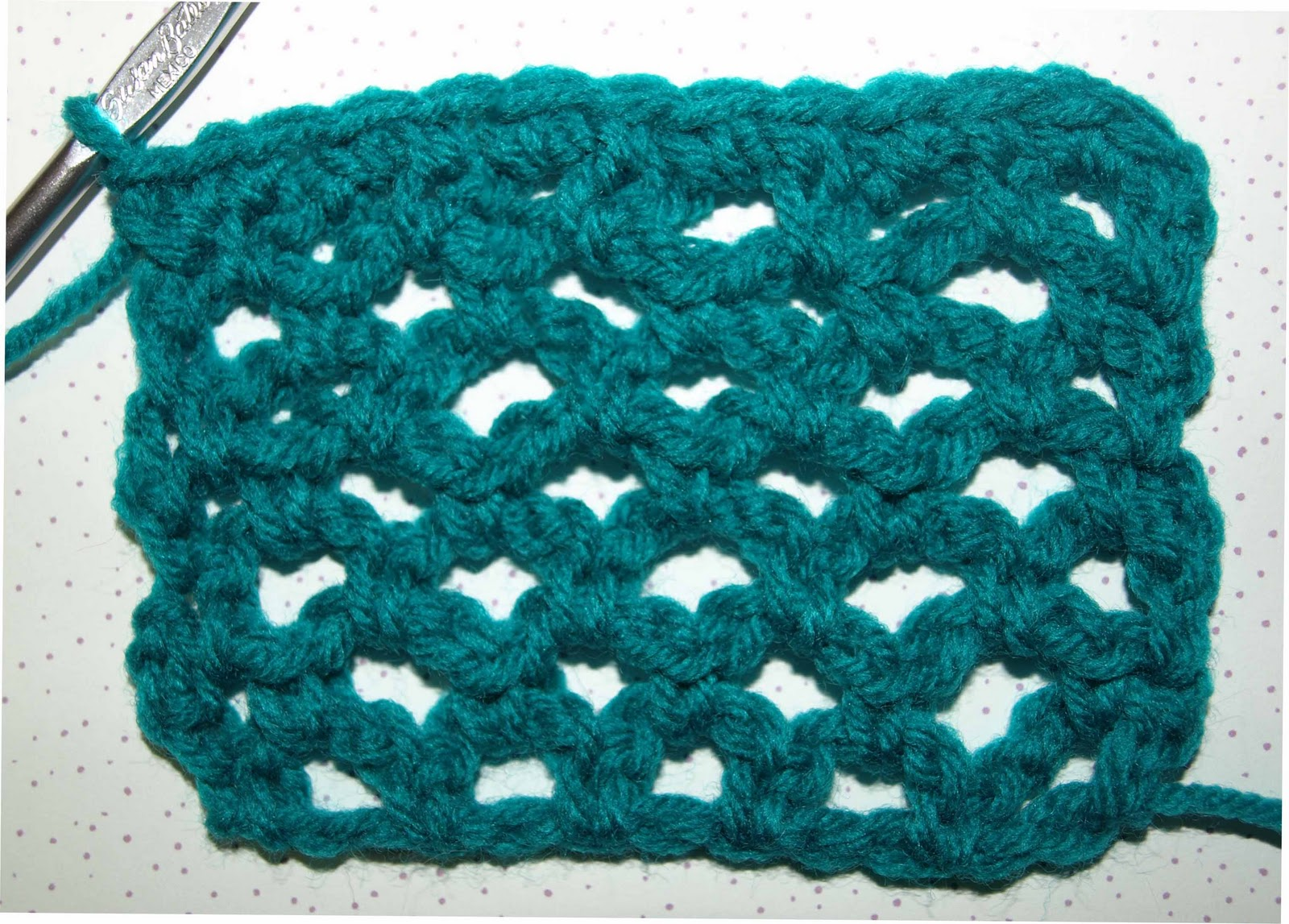 Crochetbykarin crocheting arches crochet stitches in the chain 2 space a sc to each chain 3 space and sc stitch from the previous row and 2 single crochet stitches in the last chain 2 ccuart Image collections