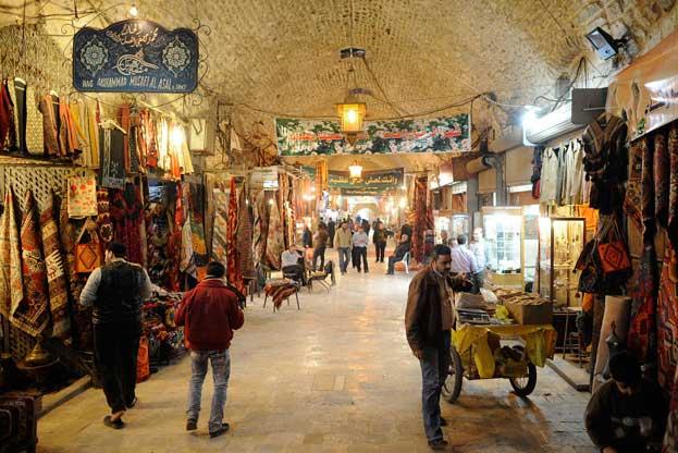 The Al-Madina Souq Market in Aleppo