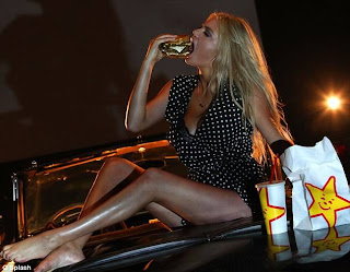 Kate Upton sexy drive-in Carl's Jr