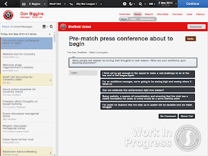FM14 Press conference after promotion