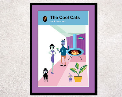framed 1960s style book cover of beatniks