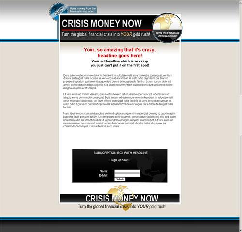 template mini-site web 8