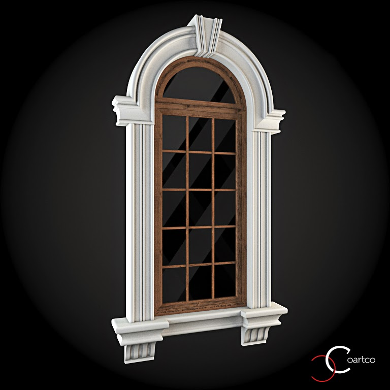 Ornamente Geamuri Exterior,  Arcada fatade case cu profile decorative polistiren, profile fatada,  Model Cod: WIN-023