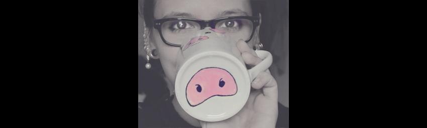 KuneCoco • DIY • Tassen bemalen • Schweinetasse