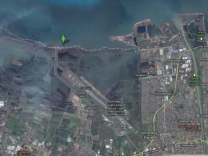 Foto Satelit Pantai Maron