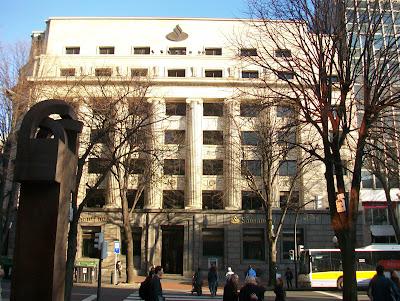 Luna de bilbao la gran v a de bilbao un paseo de invierno ii for Banco santander bilbao oficinas