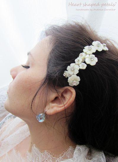 Travessas para noivas/ acessórios cabelo noivas