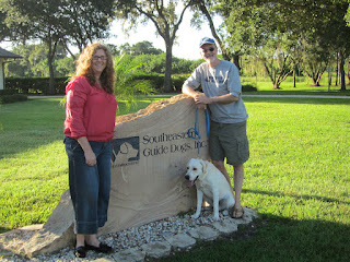 We are standing at the Southeastern rock sign.  I'm on the left and Fred and Jam are on the right.  Jam is sitting.  Fred and I are standing.