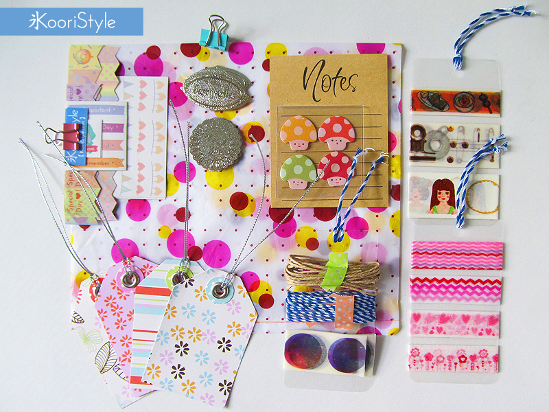 Koori KooriStyle Kawaii Cute Planner Handmade Amigurumi Happy Snail Mail PenPal Outgoing Stickers Stationery Goods Goodies Washi Deco Tape Sticky Note Notes Paper Clips