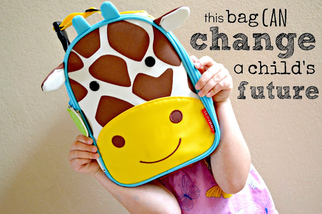 #bagitforward #shop #cfk donating school supplies skip hop giraffe lunch bag