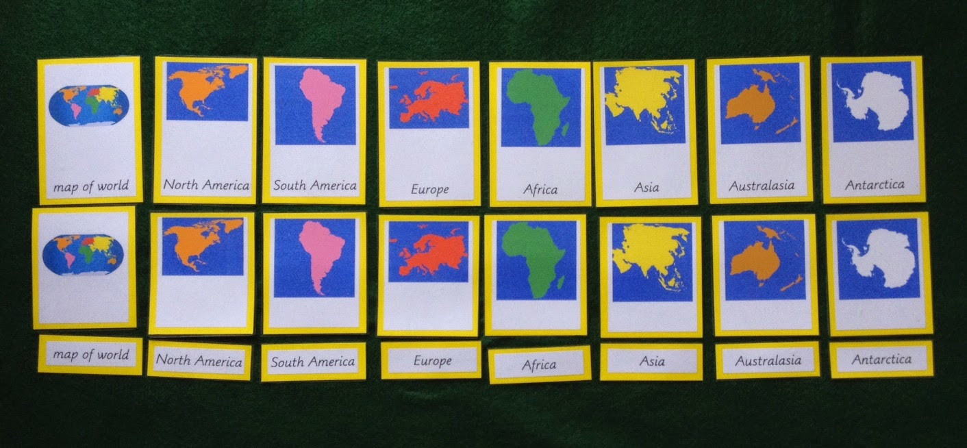 Elementary observations continents mapping geography roundup i my old set was made using the cards available from montessori soul gumiabroncs Images