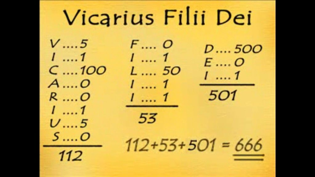 VICARIUS FILII DEI 666-WWW