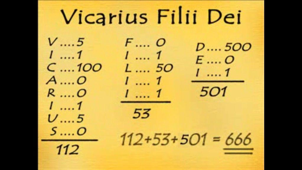 VICARIUS FILII DEI 666-WWW