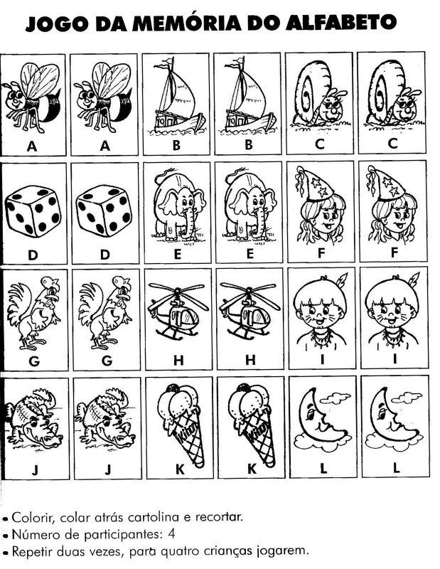 Desenhos Para Colorir Jogos de Memoria