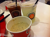 The mushroom soup sides and drinks Souperlicious @ Suntec Outlet