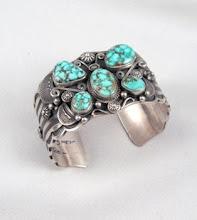 Turquoise Bracelet by Navajo Derrick Gordon