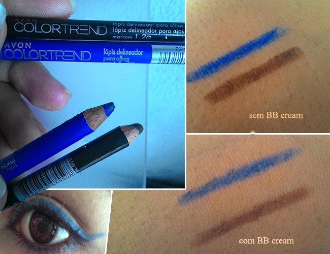 Lápis Delineador Color Trend da Avon  Azul e Marrom