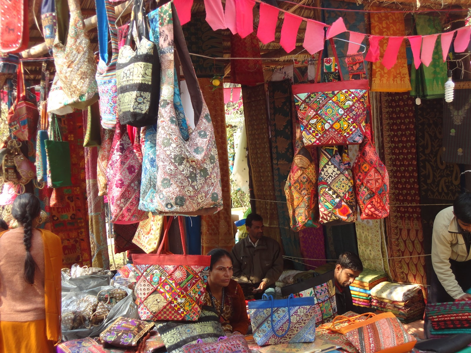Handcrafted Handbags at Surajkund Mela,India