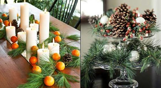 pins decorating natural ornaments