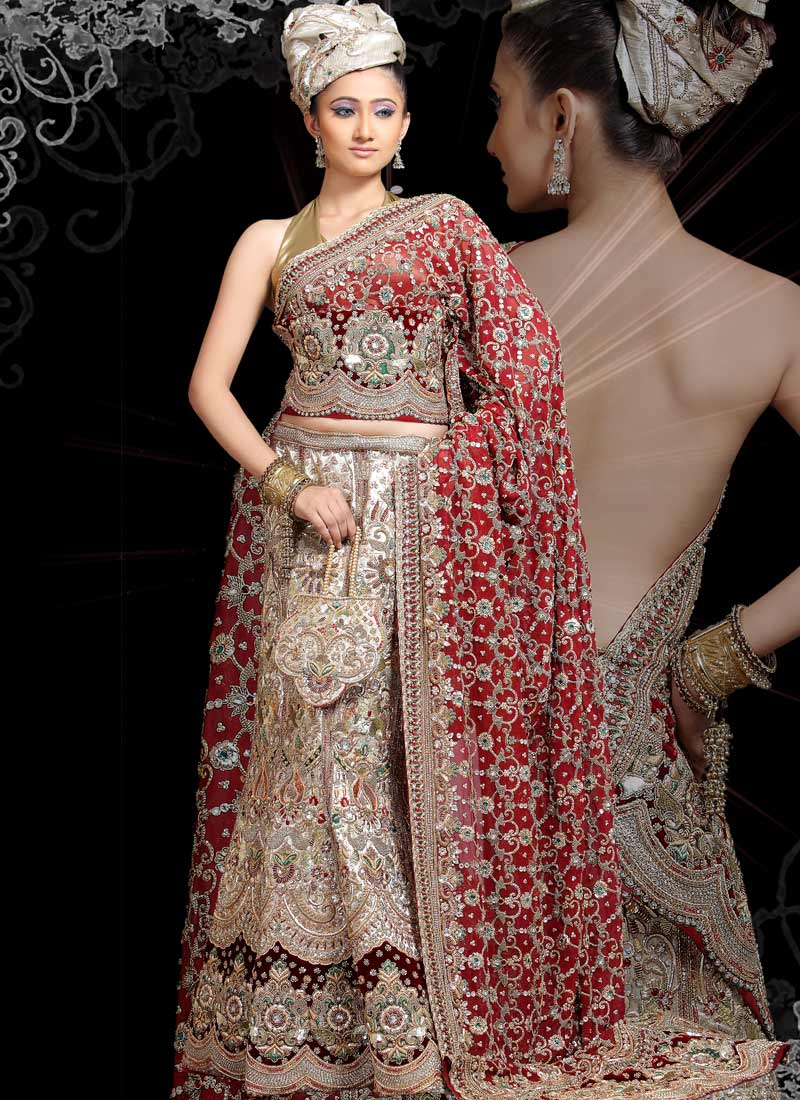Indian bridal dresses party dress beautiful lehenga choli for Indian wedding dresses online india
