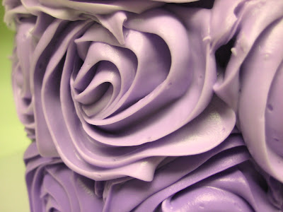 Purple Ombre Rose Cake - Close Up of Roses 2