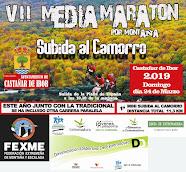 CARTEL  VII MEDIA MARATON POR MONTAÑA SUBIDA AL CAMORRO