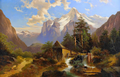 Paisajismo Clasico de Austria Vistas Naturales Al Oleo